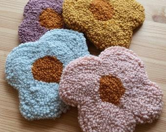 Handtufted Flower Power Coasters