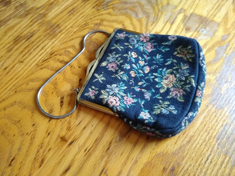 Vintage tapestry purse  clutch made in Western Germany