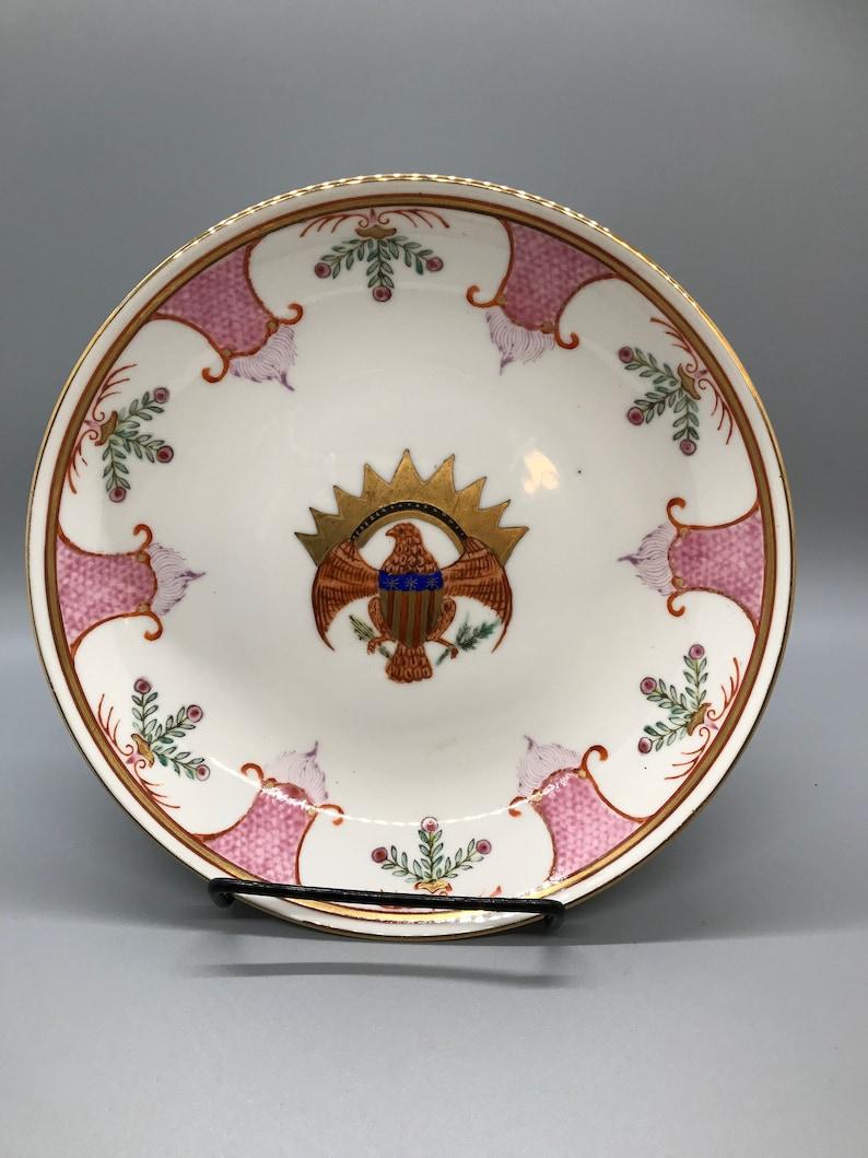 Patriotic Eagle Handpainted Japanese China Plate