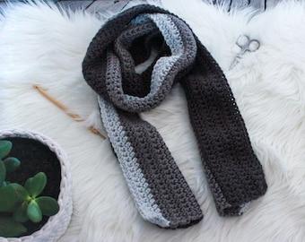 CROCHET PATTERN, Chunky Scarf, Crochet Scarf Pattern, Crochet Gift, Color Block Scarf, Scarf Pattern, Color Block Crochet, Unisex Scarf