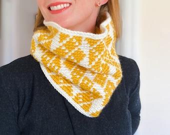 CROCHET COWL PATTERN, Crochet Neck Warmer, For Women, Gift Idea, Tapestry Crochet, Colourful Crochet