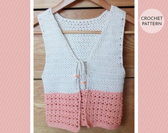 CROCHET PATTERN, Crochet Vest Pattern, Crochet Kids Vest, Crochet Kids Top, Crochet Pattern Girl, Crochet Girls Vest, Crochet Girls Top