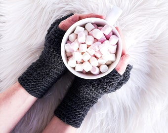 CROCHET FINGERLESS GLOVES pattern, crochet fingerless mitts, women, adult, size S M L, pdf crochet pattern, instant download