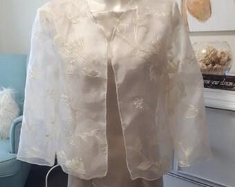 975269cc8f8 Jacket Cascade Sheer Organza Wedding Special Occasion
