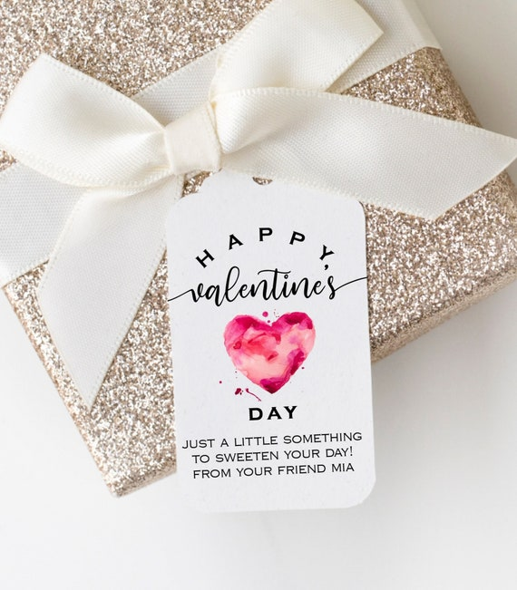 Printable Valentine's Day Tags Quarrel Pink Heart