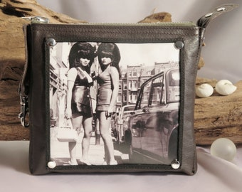 Wallet leather for women or men, leather case brown horse leather, bags organizer, purse or key case