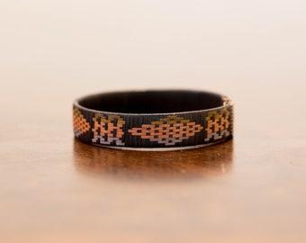 Colombian Cuff Bracelets  Ca\u00f1a Flecha Bracelet for Women  Hand Woven Bracelet  Tribal Jewellery  Black White Bracelets for Couples Boho