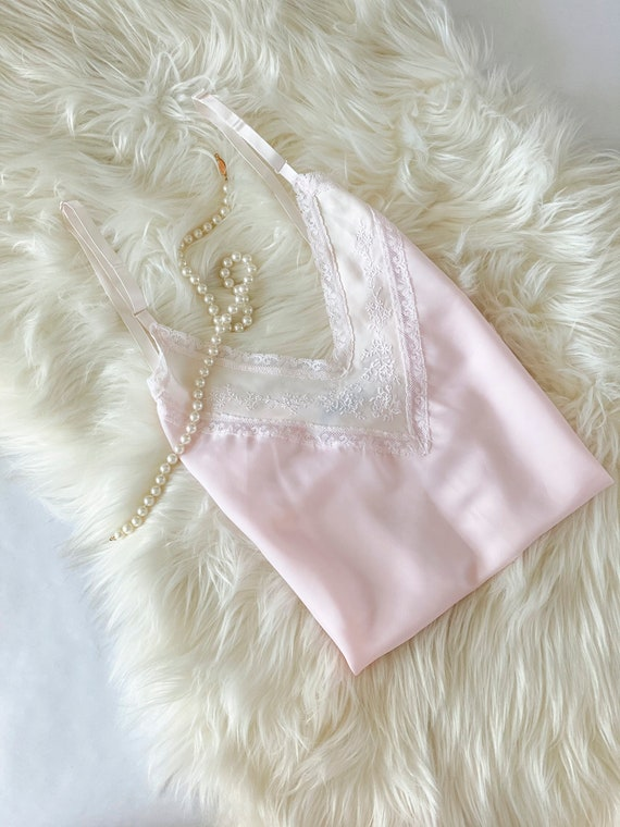 Size XS/S Pale Pink Silk Camisole - image 1