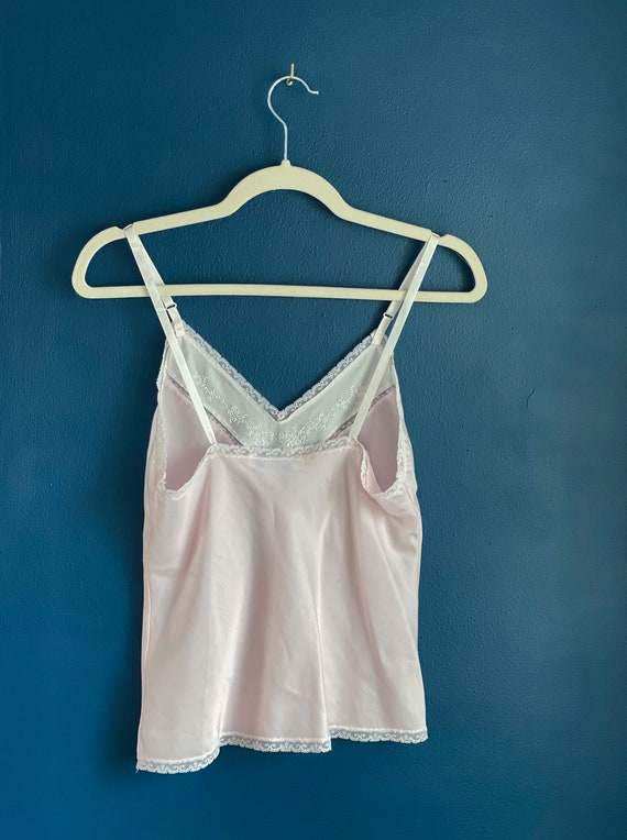 Size XS/S Pale Pink Silk Camisole - image 9