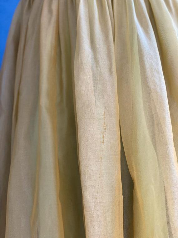 1960s Chartreuse Chiffon Party Dress - image 10