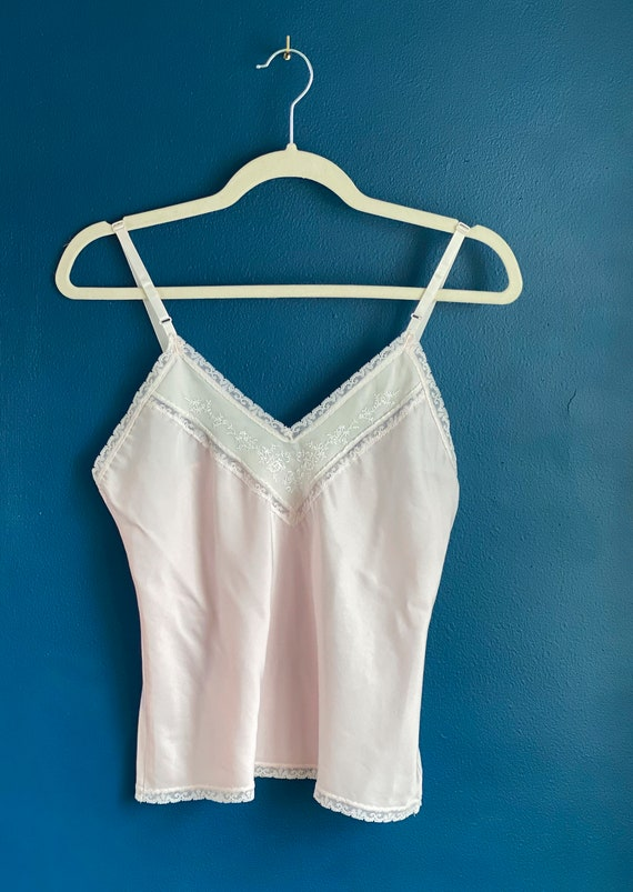 Size XS/S Pale Pink Silk Camisole - image 8