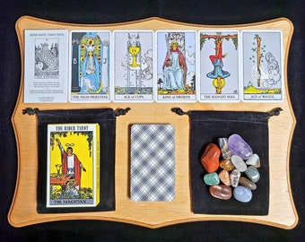 Rider Waite Tarot Card Deck & Instruction Booklet by Arthur Edward Waite, Beginner, Classic Rider Tarot Gift Set 78 Cards