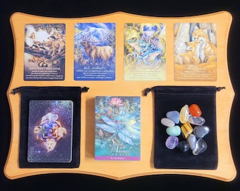 Spirit Animals Oracle Cards: A 51-Card Deck. Brand new, factory sealed, Tarot, Beginner, Velvet Bag, Tarot Cards, Crystals.