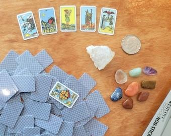 Miniature Tarot Card Deck, Printable Tarot, Rider-Waite, 78 Tarot Cards, Tarot Deck, Journal Organizing, Stickers, Instant Download, DIY