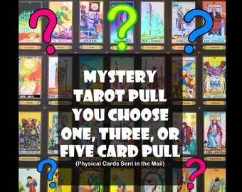 Tarot Card Mystery Pull, Get Your Cards in the Mail!! Let the Universe Decide What Cards Will You Receive! Physical Cards, Rider-Waite