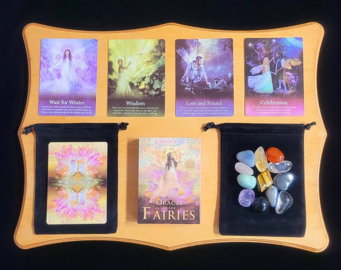 Oracle of the Fairies Oracle Cards: A 44-Card Deck. Brand new, factory sealed, Tarot, Beginner, Velvet Bag, Tarot Cards, Crystals.