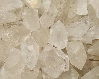 Rough Clear Quartz, 4oz of Crystals W/ Black Velvet Bag, Crystal Healing, Metaphysical, Protection Stone, Gemstones, Wholesale