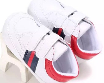 036cc688e Baby Gucci inspired soft sole classic sport baby unisex shoes