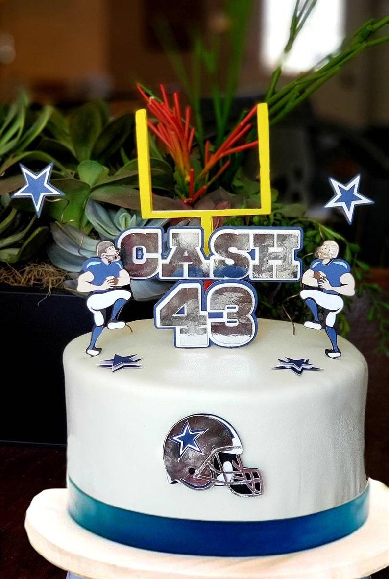 Phenomenal Dallas Cowboys Birthday Cake Topper Etsy Funny Birthday Cards Online Alyptdamsfinfo