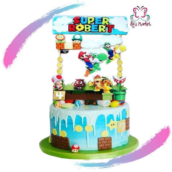 Super Mario Bros Cake Topper Cake Super Mario Bros Topper Etsy