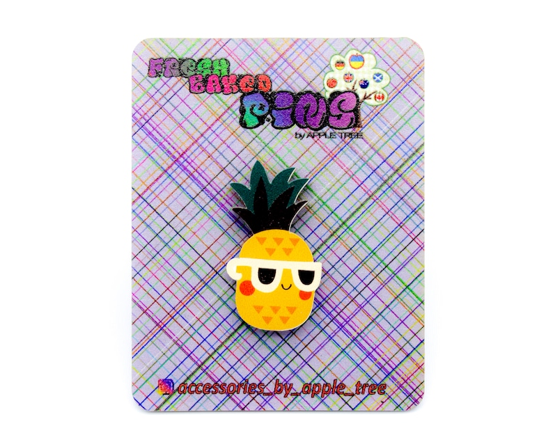 Beach pineapple pin hat fanny pack clothing accessory.stocking stuffer cute pin jacket