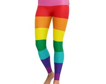 798b2a3e924f45 Rainbow Leggings LGBT Pride