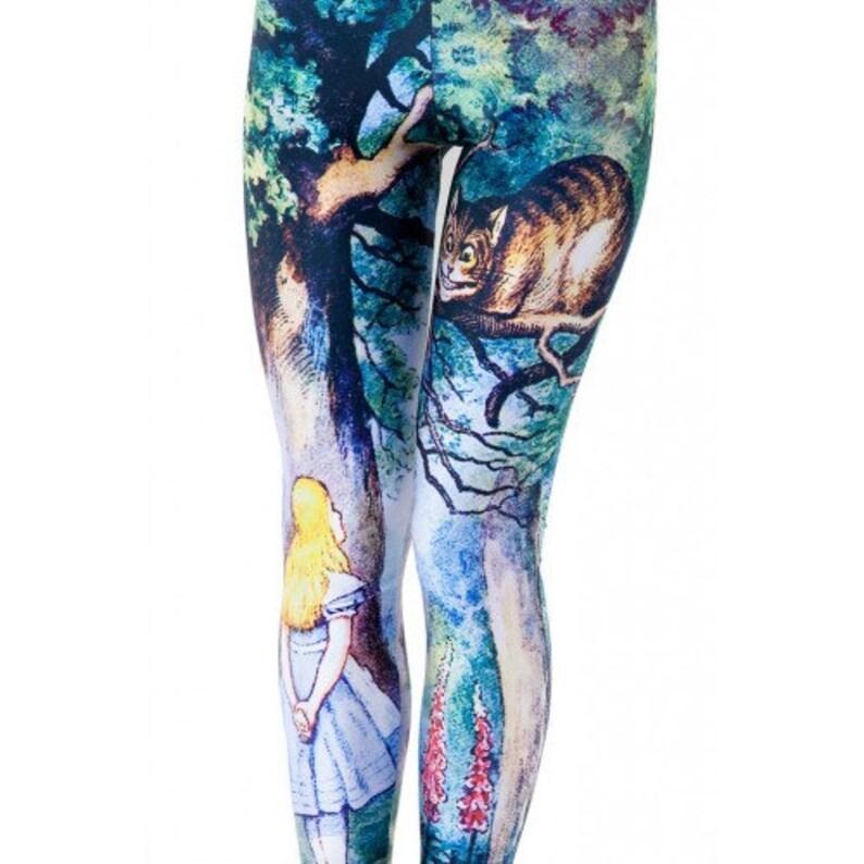 Alice in Wonderland Leggings  Plus size 16  20 image 0