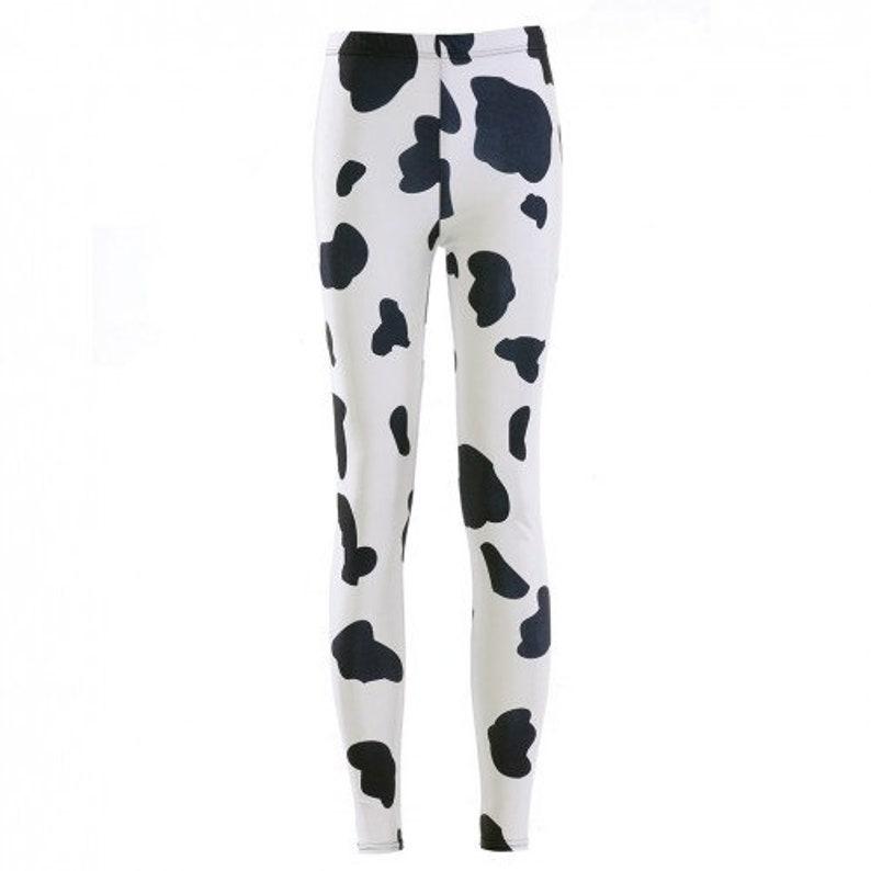 Fresian Cow Print Leggings image 0