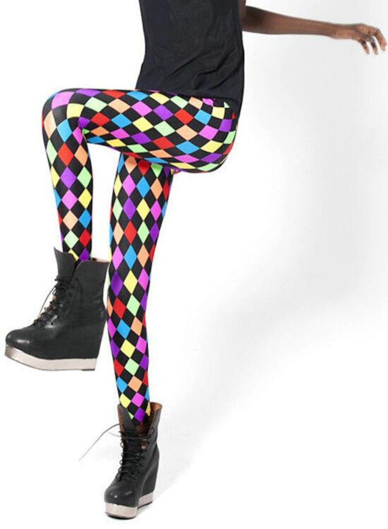 Rainbow Harlequin Leggings image 0