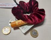 Stash Scrunchies.  Hair scrunchies with hidden zip storage. Rich Velvet