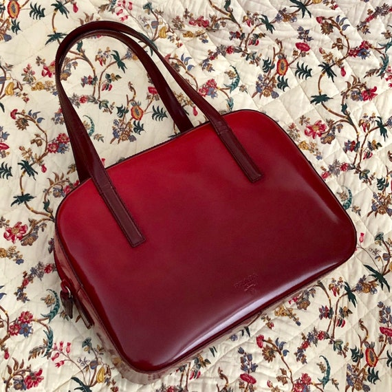 1990s Prada Cherry Gradient Handbag