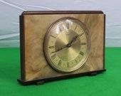1960 39 s Metamec Art Deco Style Mantle Clock - Working Hand Wind - Metamec Made in England