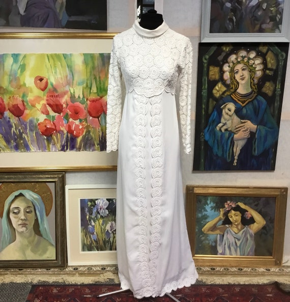 wedding dress Vintage wedding dress 60s wedding dr