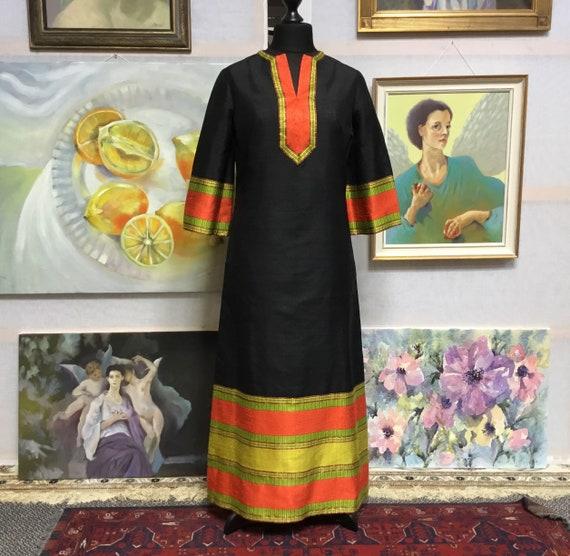 Kaftan african Vintage dress vintage kaftan PURE S