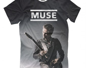 624a2d494df909 T-shirt Musa, Matthew James Bellamy Tee, Taglie Da donna uomo
