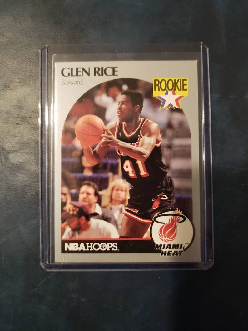 1990 Nba Hoops Glen Rice Rookie Card 168