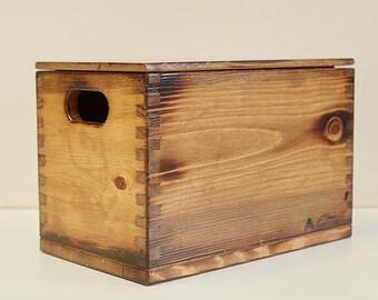 Wooden Storage Box Etsy