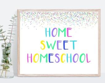 Homeschool Room Decor, Homeschool Confetti Wall Art, Homeschool Printable, Homeschool decoration, Homeschool Family Mom, Gift