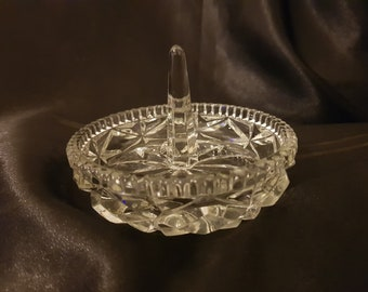 Glass ring tree and dish