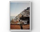 Positano print, Amalfi coast print, Positano poster, Travel Print, Positano gift, Positano Photography, Positano wall art, Amalfi coast art