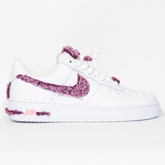 Nike Air Force 1 Custom 'Purple Fluff' Available in all sizes for Men, Women, Children
