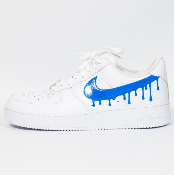 escocés maquillaje Nueva llegada  Nike Air Force 1 Custom 'Blue Drip' Available in all | Etsy