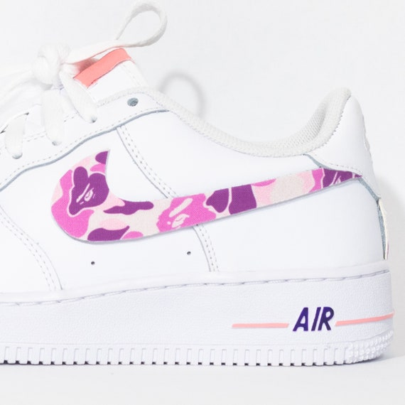 Nike Air Force 1 Custom 'Purple Camo' Available in all sizes for Men, Women, Children