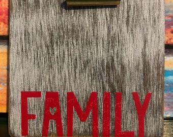 Magnetic Photo Holder, Family Photo Holder, Photo Magnets, Refrigerator Magnets, Family Photo Housewarming Gift, Dorm Decor