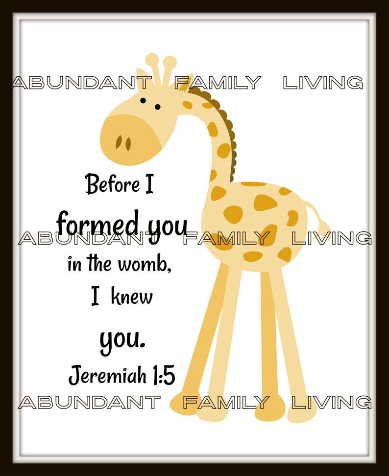 Baby Nursery Digital Download.  Before I formed you in the image 0