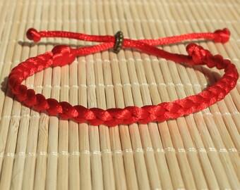 0f4283806d1ed8 Rosso intrecciato braccialetto alla caviglia braccialetti amicizia per  donne uomini braccialetto intrecciato braccialetto per gli uomini bff regali  per papà ...