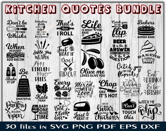 Kitchen Quotes Svg Cooking Sign Pdf Home Sayings Clipart Etsy