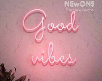 Good vibes neon sign | Etsy