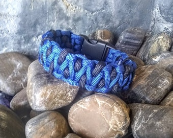 eec322f7de6 The Policeman Paracord bracelet Great gift for any policeman or first  responder.