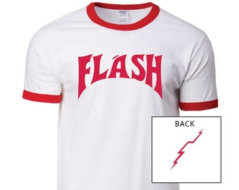Shirt Flash Gordon Flash Circle Adult Ringer T